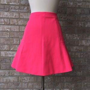 J Crew Lined Zip Bell A-Line Pink Skirt Size 4🌸