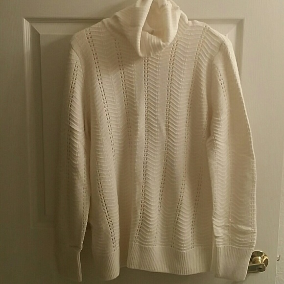 71% off LOFT Sweaters - LOFT NWT Cream Colored Turtleneck Sweater ...