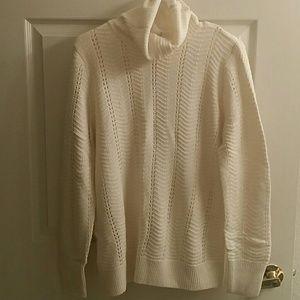 LOFT NWT Cream Colored Turtleneck Sweater Sz L