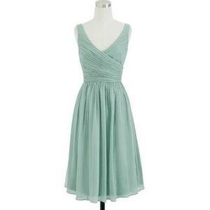 Jcrew Heidi Silk Chiffon Dress in Dusty Shale