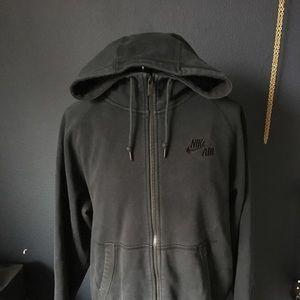 Black nike air zip hoodie as is