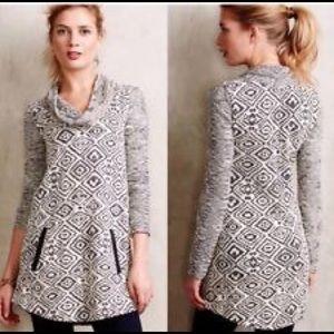 Anthropologie Postmark Konya Cowl Sweater Tunic