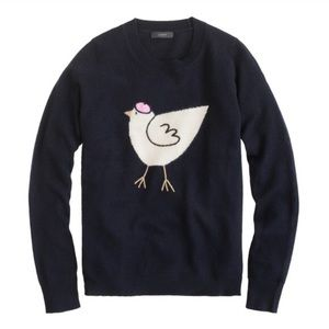 Jcrew Retail French Hen Pullover Navy Sweater XS