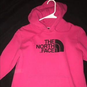 NORTHFACE pullover hoodie pink/ black