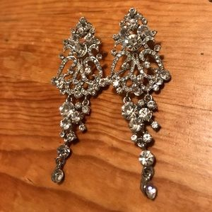 Gorgeous Cubic Circonia Chandelier Earrings