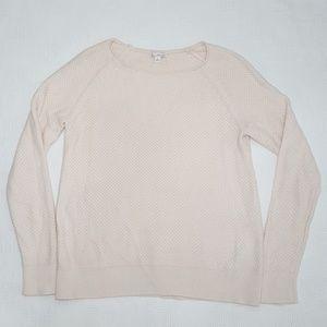 Gap Nude Textured Crew Sweater - Small