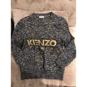 Kenzo Logo Wool Mohair Knit Sweater Size S
