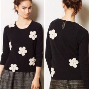 Anthropologie Paquerette Floral Sweater Sz. Medium