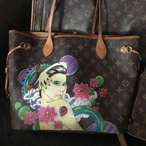 Louis Vuitton neverfull paint