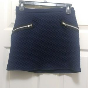 New Quilted Mini Skirt