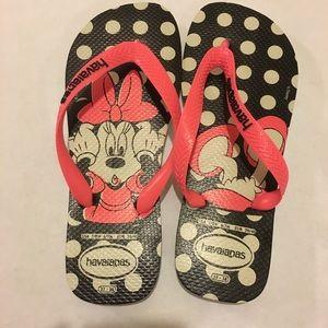 Disney Havaianas Minnie Mouse Sz 7 NWOT