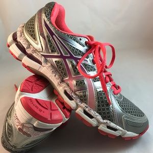MINT ASICS GEL KAYANO 19 Silver Coral Red 8.5