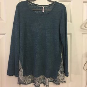 🎁 Xhileration XL hippie boho look distressed top