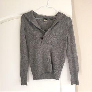 🖤 J.CREW Grey Cashmere/Wool Blend Hoodie - XS