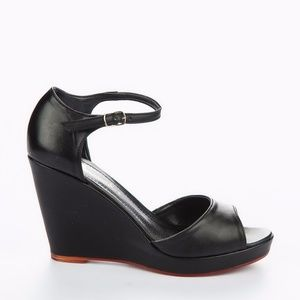 Black Wedges Sandals