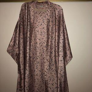 Satin star print kimono robe ⭐️👘