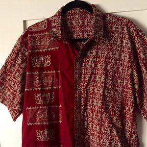 Maroon batik shirt