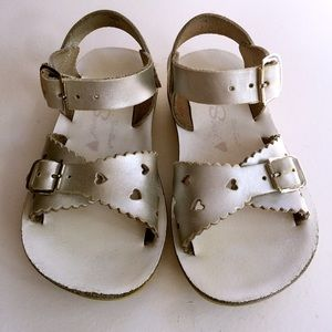 HOY SALT WATER Leather Sandals Shoes Girls  GUC