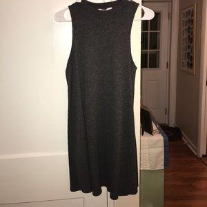 High neck Sleeveless Sweater Material Dress