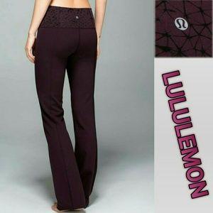 Lululemon Groove Pants II.. Black Cherry (10)