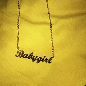 Babygirl gold necklace/ chain