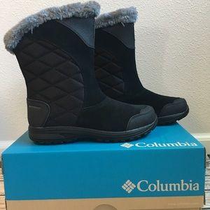 Columbia Ice Maiden Women Black Winter Boots NEW