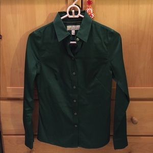 Dark green Banana Republic dress shirt