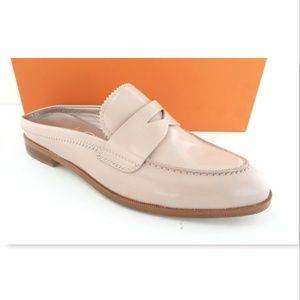 New AGL Size 39 Pale Nude Leather Penny Mule Flat