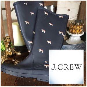J. Crew Sherpa Rain Boots