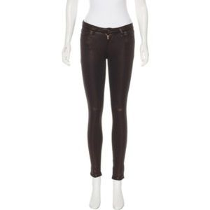 Pants - AG Adriano Goldschmied metallic bronze leggings