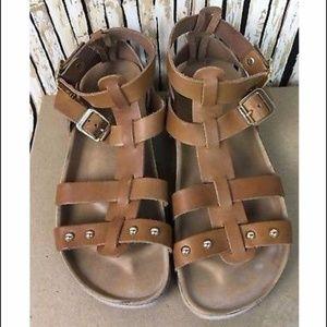 White Mountain Mandolin Gladiator Sandals Leather