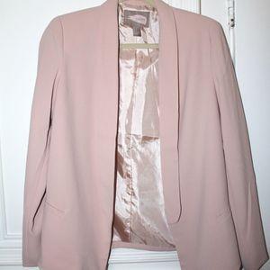 Forever 21 Contemporary Blush Pink Blazer