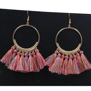 Fashion Multicolored Tassel Earrings
