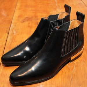 Zara Patent Leather Chelsea Boot