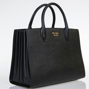 Prada Bags   Large Bibliotheque Saffiano City Calf Black Bag   Poshmark 78b3d988f3