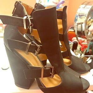 Charlotte Russe Black Heel Wedges