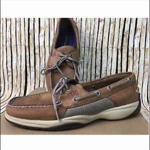 Sperry Top-Sider Bluefish 2 Eye Linen Oat Shoes 11