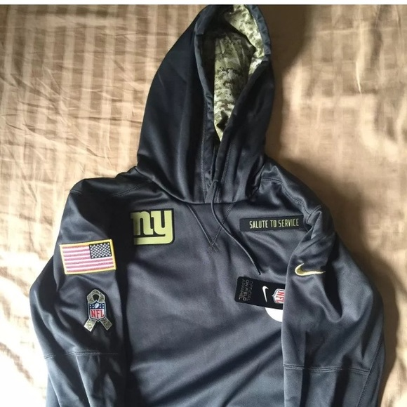 the latest 29ce3 32776 Nike NY Giants 2016 Salute to Service Hoodie NWT NWT