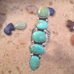 Royston Turquoise & Sterling Silver Navajo Ring