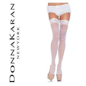 donna karan new york lace top stockings thigh high
