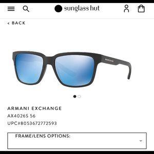 Armani polarized sunglasses, Black and grey Lense