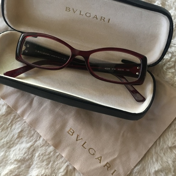 9b94cc066ce4 Bulgari Accessories - BVLGARI • Bulgari eyeglasses, deep red frames