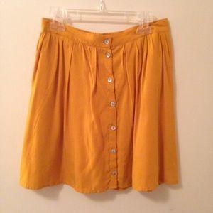 F21 Mustard Skirt