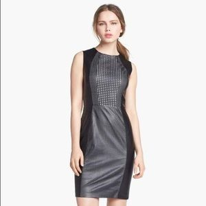 Black Leather Sheath Dress by Vince Camuto