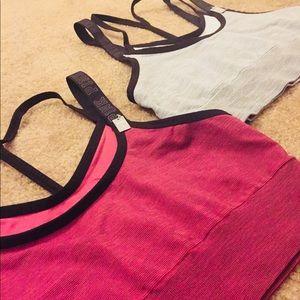 2 Victoria Secret Pink Sports Bras