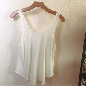 Chiffon cream tank from Lush, by Nordstrom.