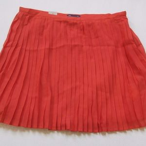 Gap Womens Skirt Plisse Pleated A line Mini Orange