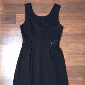 Whbm Button Waist Sleeveless Sheath Scoop Dress 8