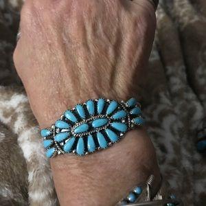 SS Zuni /Petit point turquoise cuff