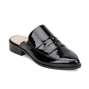 french connection black patent mule